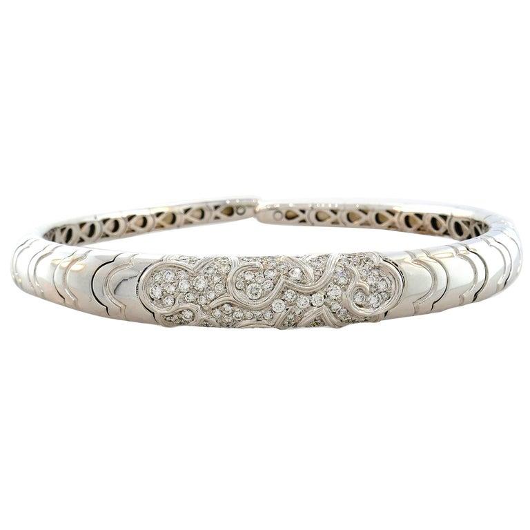 Marina B Diamond White Gold Choker Necklace, 1980s