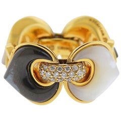 Marina B Gold Diamond Mother of Pearl Ring