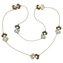Marina B Gold Mother of Pearl Diamond Long Necklace
