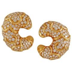 Marina B Onda Crescent Diamond Earrings