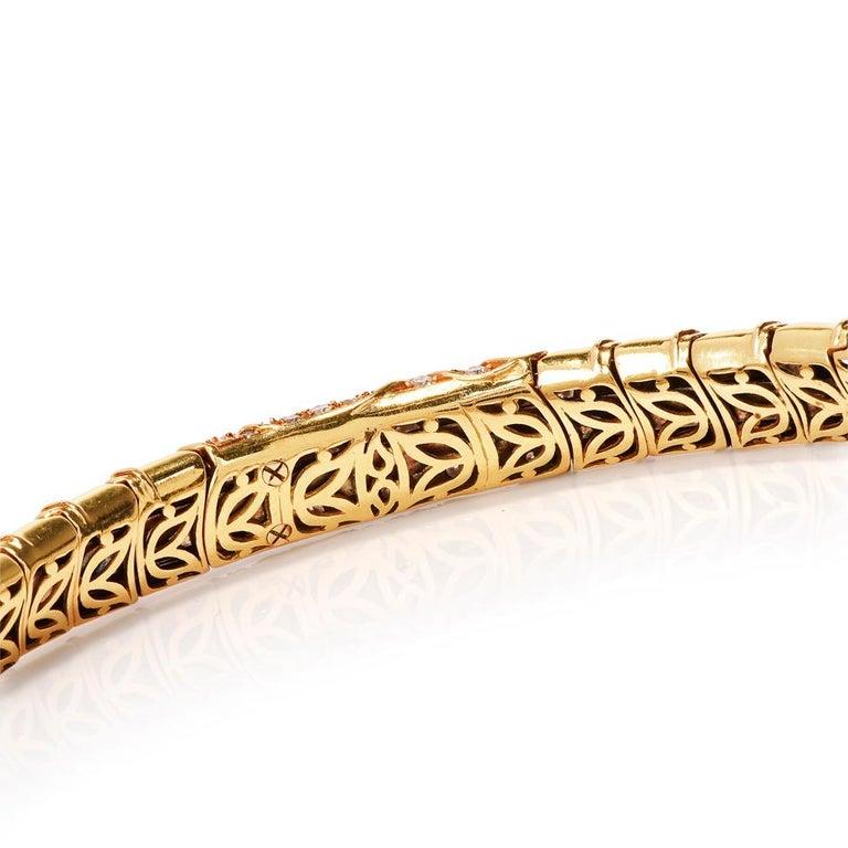 Marina B Onda Diamond 18 Karat Yellow Gold Choker Necklace For Sale 1