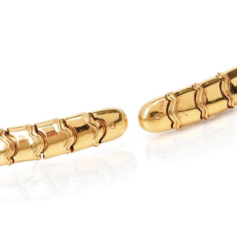 Marina B Onda Diamond 18 Karat Yellow Gold Choker Necklace For Sale 2