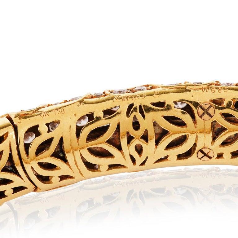 Marina B Onda Diamond 18 Karat Yellow Gold Choker Necklace For Sale 3
