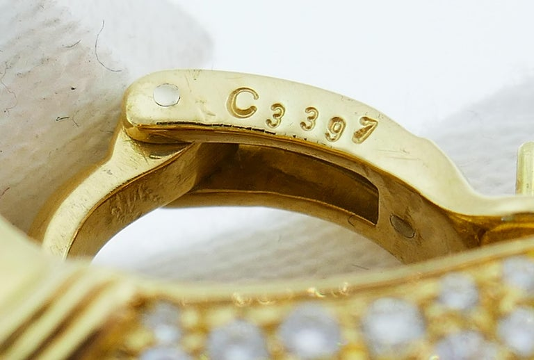 Marina B Yellow Gold Hoop Earrings with Blue Topaz Tourmaline Diamond, 1980s 2