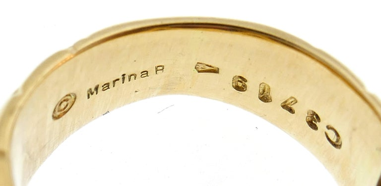 Marina B Yellow Gold Ring with Tourmaline Citrine and Diamond 1980s For Sale 2