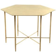 Marina Brass Hexagonal Side Table by Corinna Warm