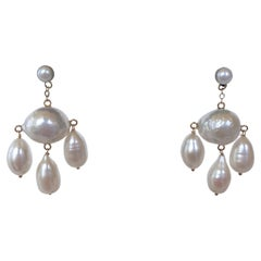 Marina J. Baroque Pearl Chandelier Earrings with 14K Yellow Gold