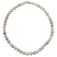 Marina J. Multi Colored Pearl Necklace with 14k White Gold Clasp