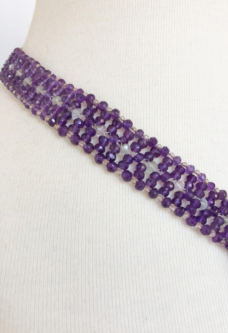 Marina J. Stunning Amethyst Woven Necklace with Garnet, Citrine, Topaz and Opal In New Condition In Beverly Hills, CA