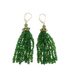 Marina J. Tsavorite and 14K Gold Tassel Earrings