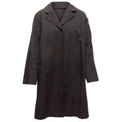 Marina Rinaldi Black Long Collared Coat