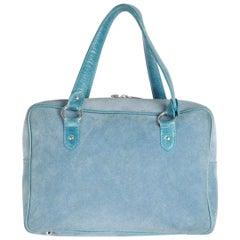Marina Rinaldi Light Blue Suede Satchel Bag Handbag