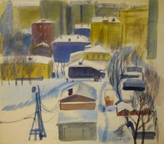 """Moscow  "" Tempera color  cm. 52 x 46  1972"