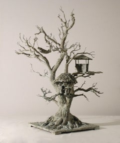 Au gré des vents by Marine de Soos - Contemporary Bronze sculpture, Tree Houses