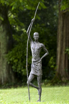 Between Sky and Earth - Sculpture of a standing man