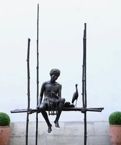 Grand cantique des pilotis, Large outdoor bronze sculpture