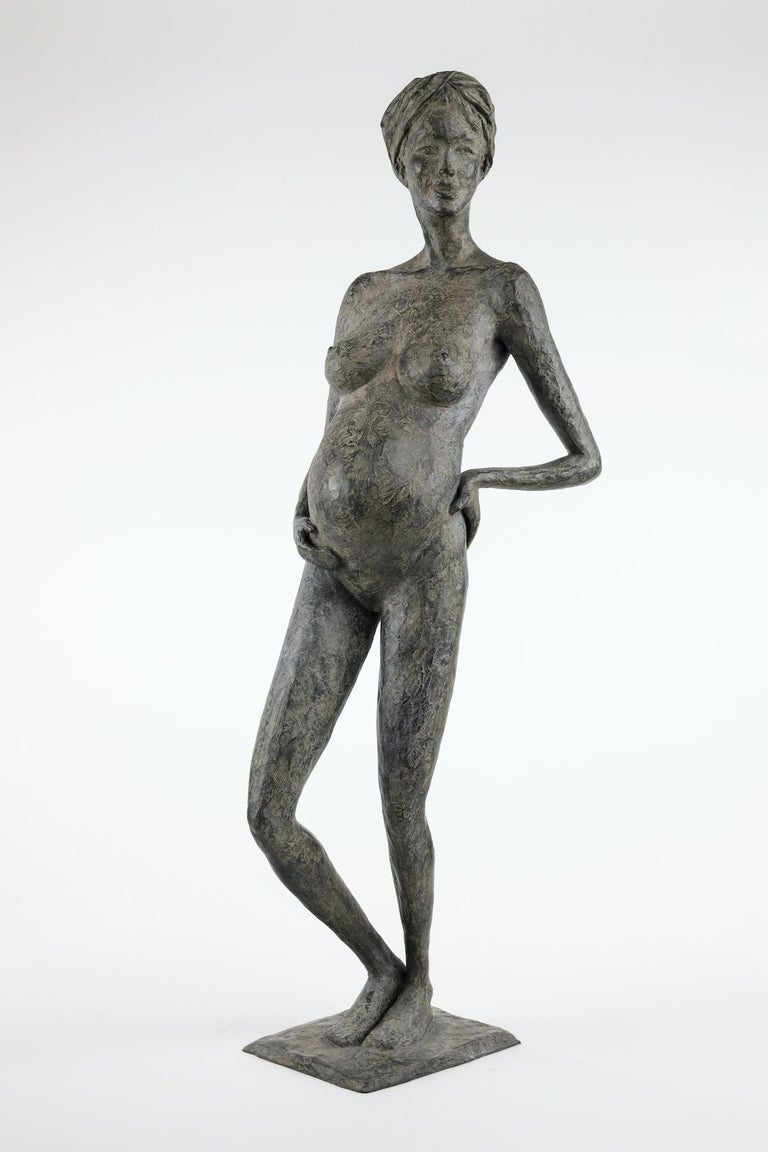 In Majesty, by French contemporary artist Marine de Soos.  Bronze, 87 cm × 33 cm × 22 cm. Limited edition of 8 copies and IV artist's proofs.  Each of Marine de Soos' sculptures has its story, being a memory of a real moment or an imaginary scene,