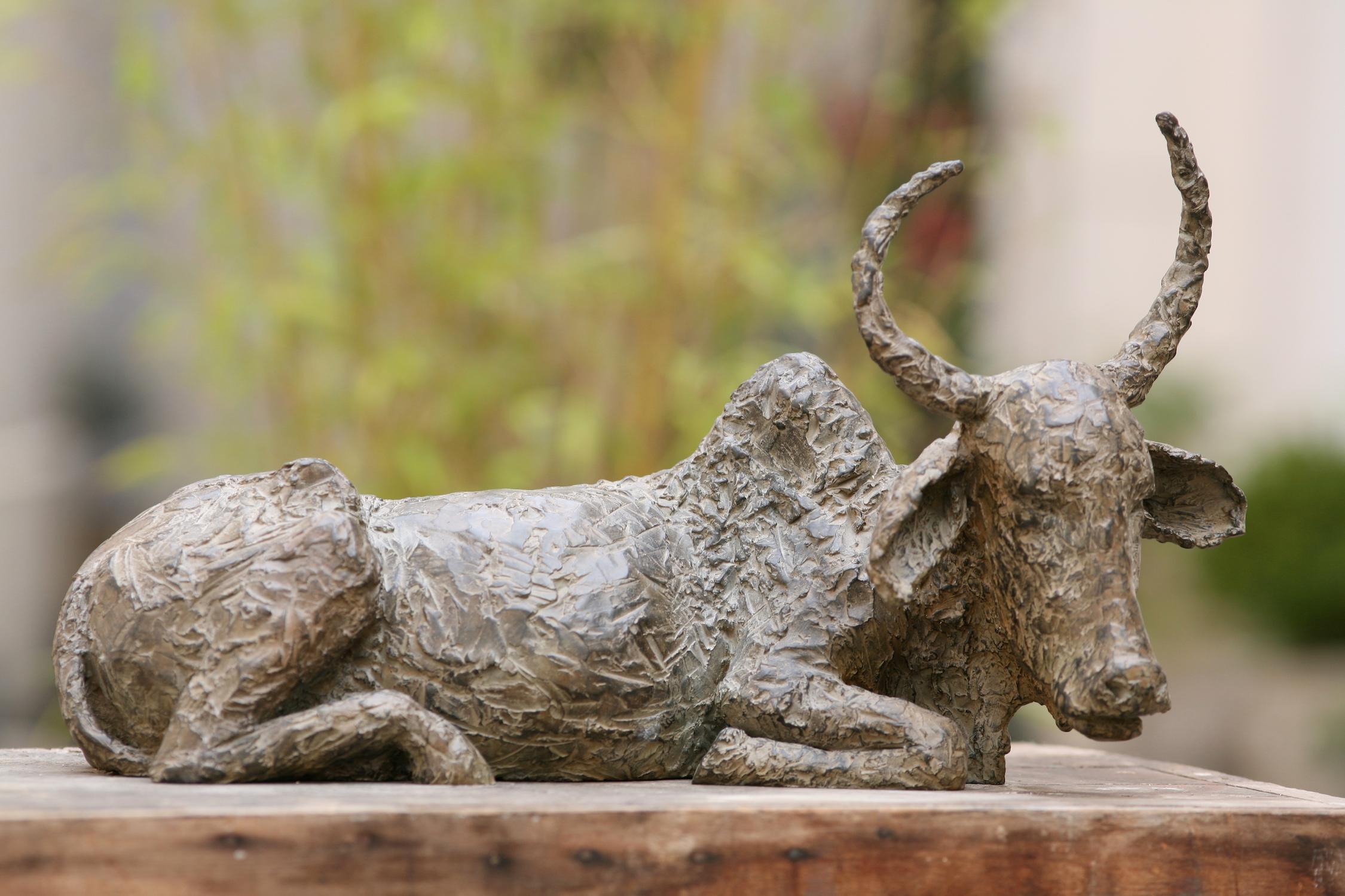 Sacred Cow (Contemporary bronze sculpture)