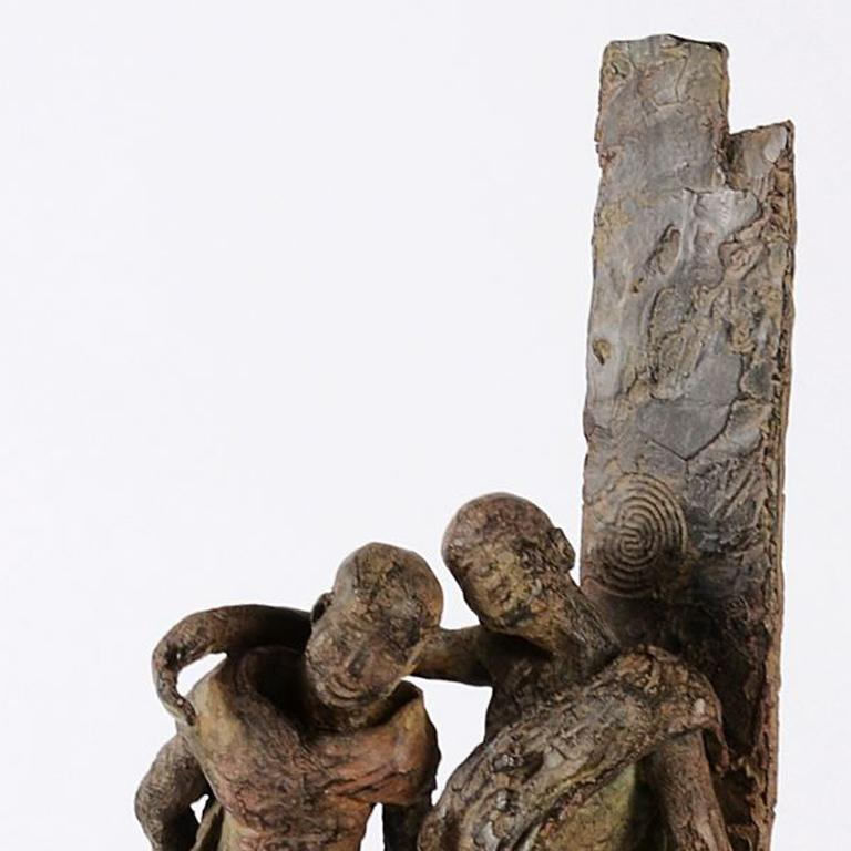 The Banks of the Irrawaddy River, Two Friends Bronze Sculpture For Sale 1