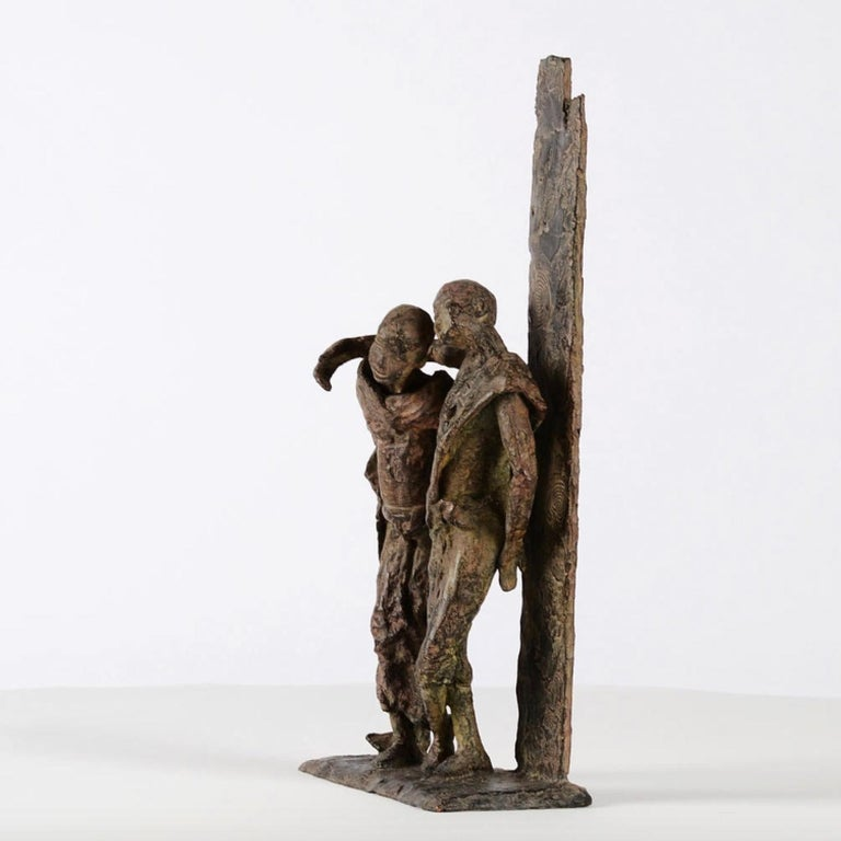 The Banks of the Irrawaddy River, Two Friends Bronze Sculpture For Sale 2