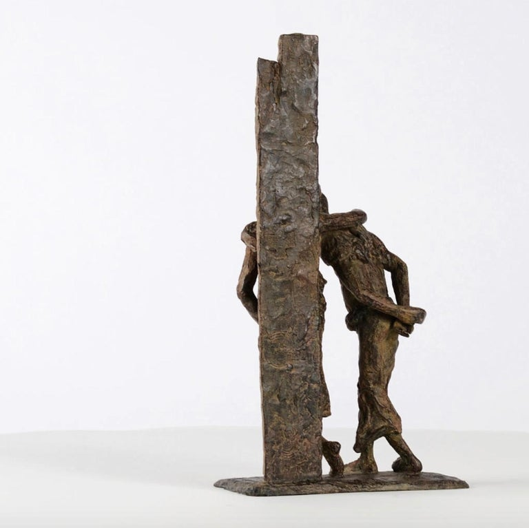 The Banks of the Irrawaddy River, Two Friends Bronze Sculpture For Sale 3