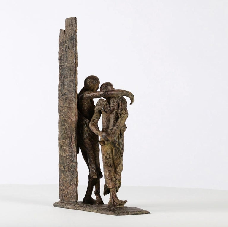The Banks of the Irrawaddy River, Two Friends Bronze Sculpture For Sale 4