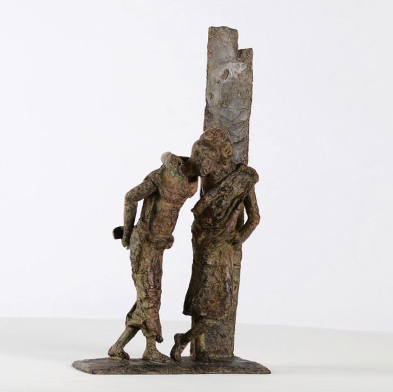 The Banks of the Irrawaddy River, Two Friends Bronze Sculpture For Sale 5