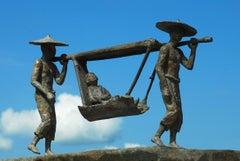 The Sedan Chair (Le Palanquin), bronze sculpture