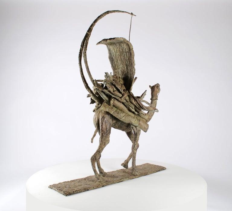 The Vessel of the Desert, Animal Bronze Sculpture (Camel) - Gold Figurative Sculpture by Marine de Soos
