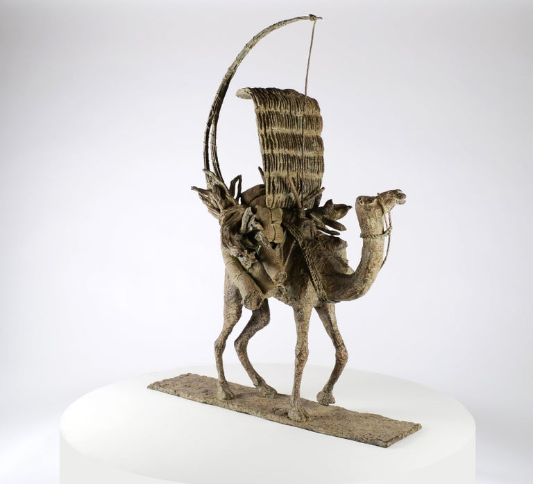 The Vessel of the Desert (Le vaisseau du désert), bronze sculpture by French contemporary artist Marine de Soos.  Dimensions: 103 cm × 75 cm × 17 cm. Edition of 8 + 4 A.P. Each copy is signed and numbered.