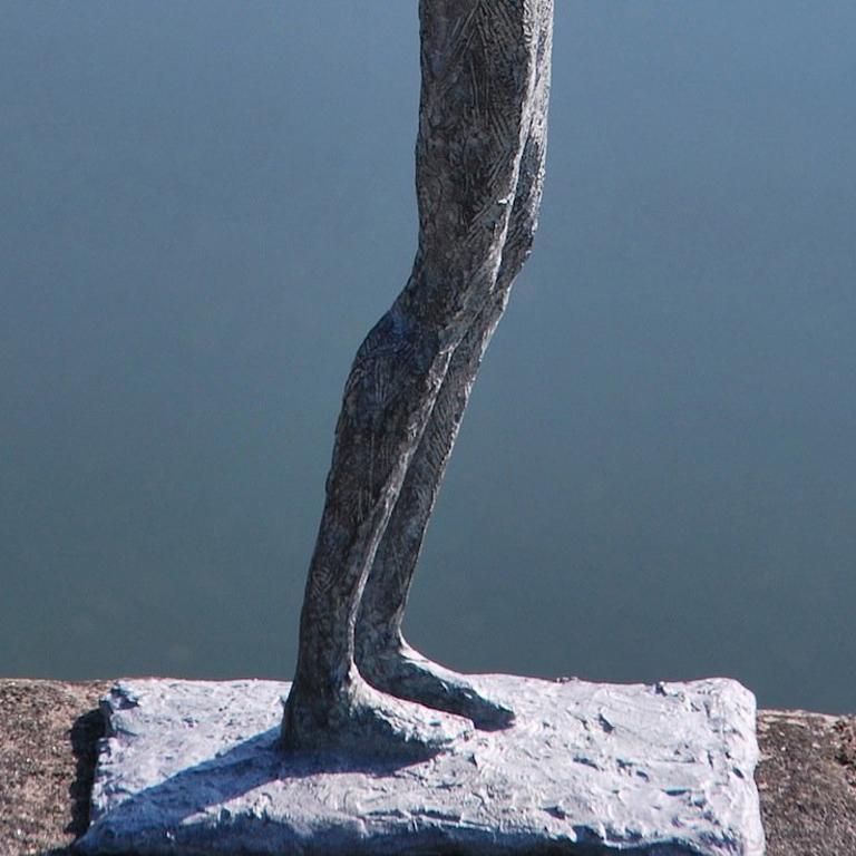 Wandering Light - Gold Figurative Sculpture by Marine de Soos