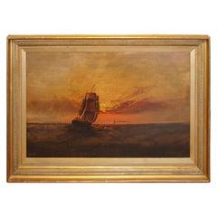 Marine Scene at Sunset by James Everett Stuart