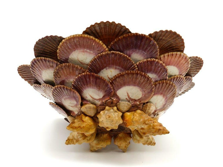 French Marine Shells Cachepot, Mid-20th Century For Sale