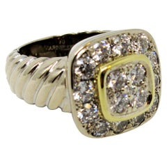 Marinelli 2.51 Carat Diamond Halo Cocktail Ring 18 Karat White and Yellow Gold