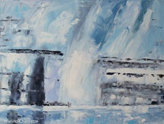 Ocean 77, Ocean Ice Melting, Painting, Oil on Canvas