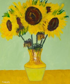 Sunflower 5, Painting, Oil on Canvas