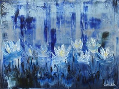 Water lilies 10, Painting, Oil on Canvas