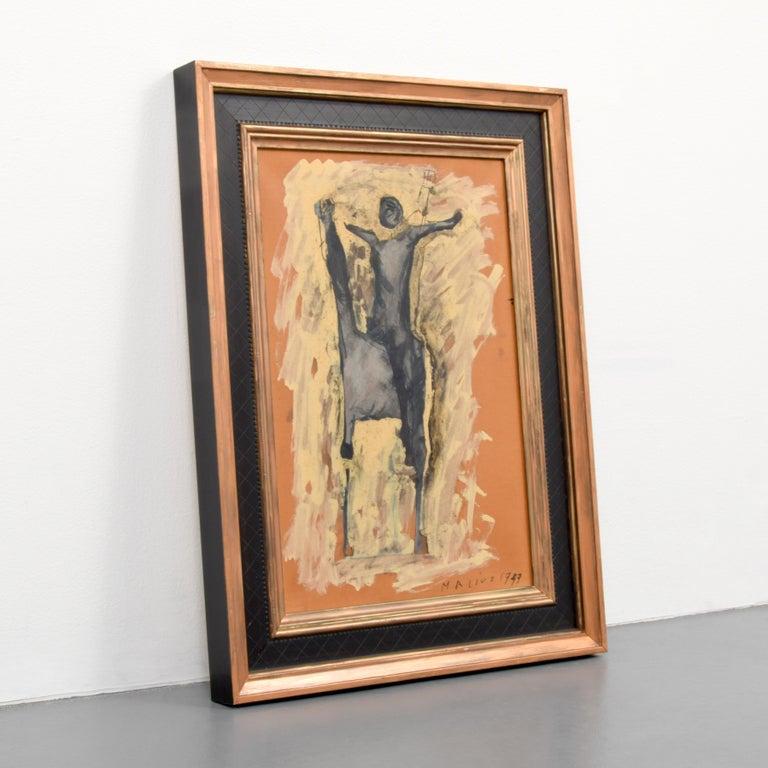 Expressionist Marino Marini Equine Painting For Sale