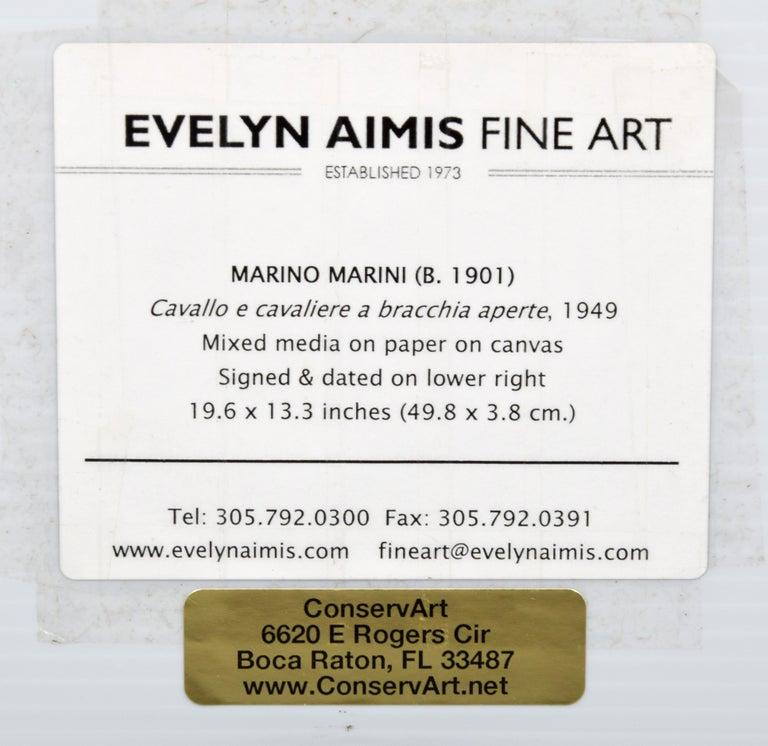 Mid-20th Century Marino Marini Equine Painting For Sale