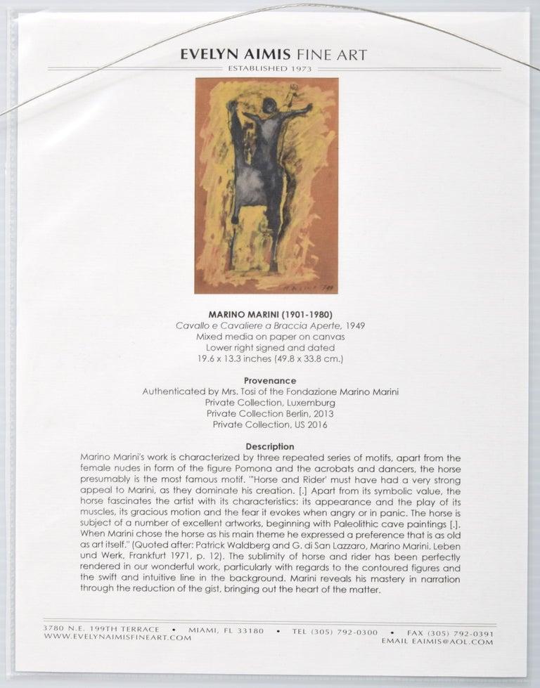 Canvas Marino Marini Equine Painting For Sale