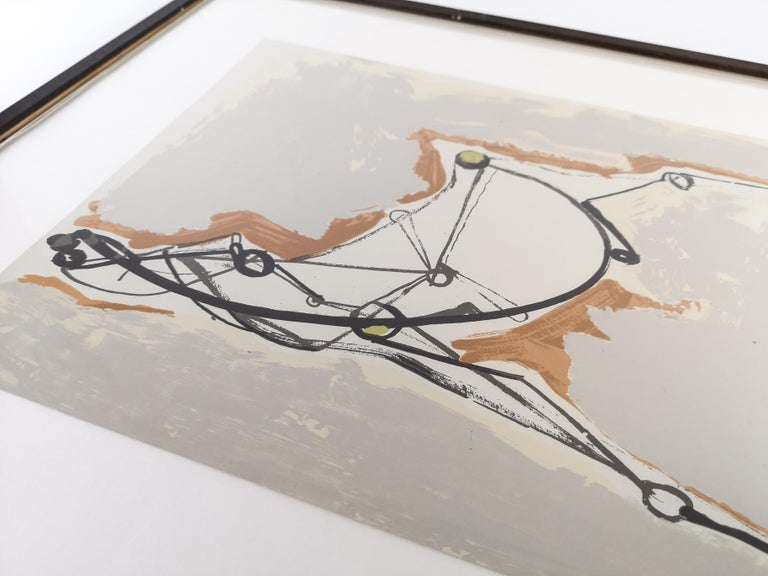 Mid-Century Modern Marino Marini Lithograph For Sale