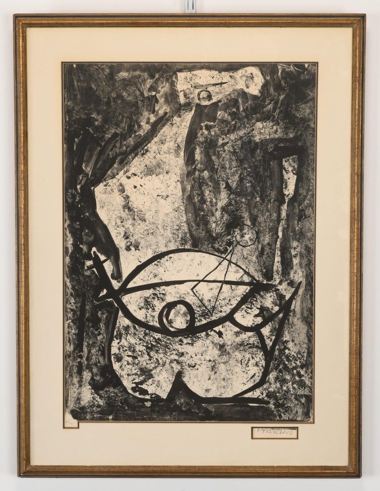 A framed and signed Marino Marini Lithograph entitled