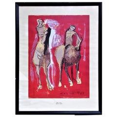Marino Marini, Lithograph Print - Due Cavalieri, 1949