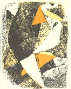 1963 Marino Marini 'Cheval et Cavalier' Modernism Multicolor Lithograph