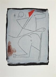 Acrobats - Original Etching and Aquatint by Marino Marini - 1963