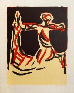 Chevalier - Original Color Lithograph by Marino Marini