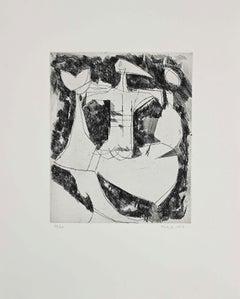 Composition I - Original Etching by Marino Marini - 1956