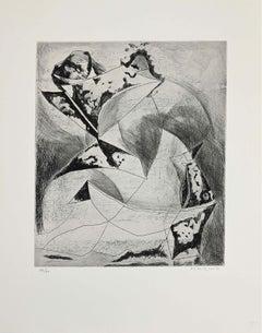 Composition II - Original Etching by Marino Marini - 1969