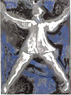 Dancer  - Original Etching by Marino Marini - 1977