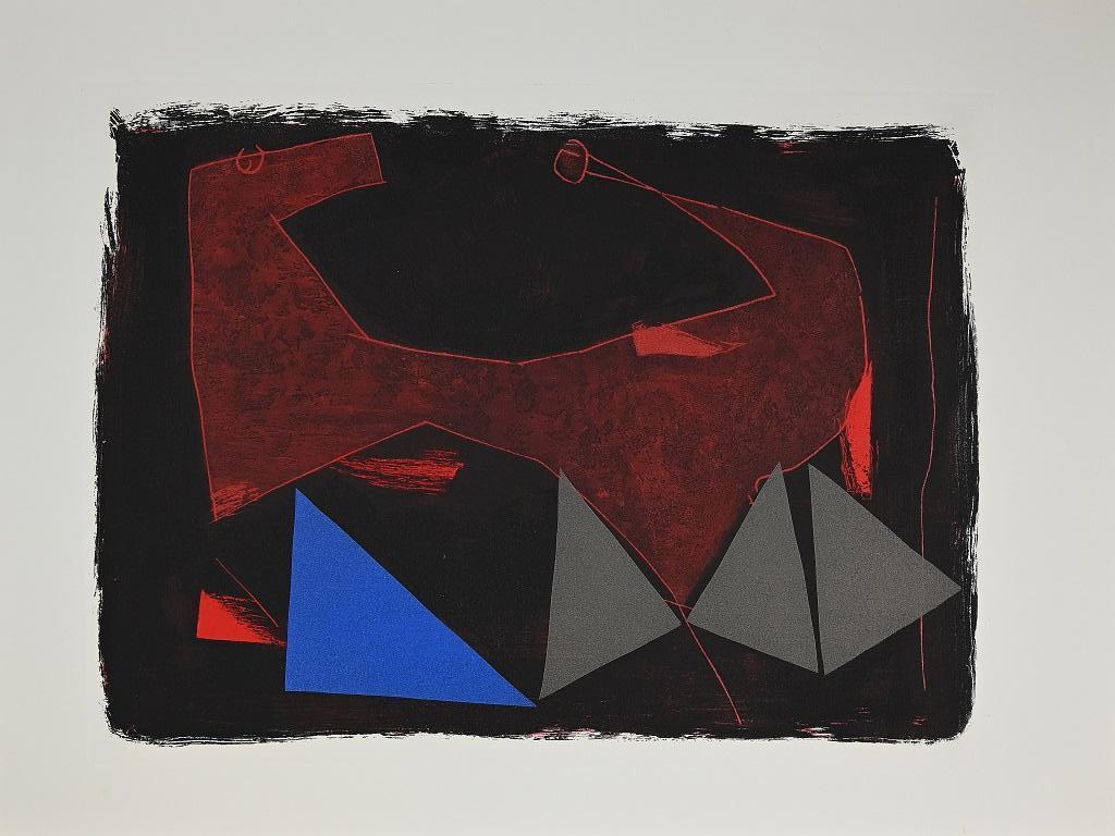 Devastation and reconstruction - Original Etching by Marino Marini - 1963